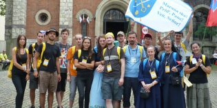 Foto: Mladí z eparchie na SDM v Krakove