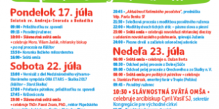 Pozvánka na liturgiu s vladykom Cyrilom Vasiľom na Skalke pri Trenčíne